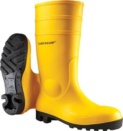 Bau-Sicherheitsstiefel S5 gelb PVC