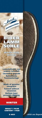 Biber Lamm Sohle