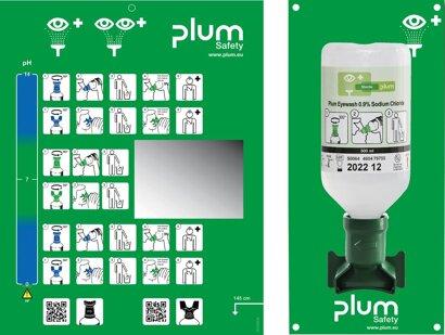 Augenspülstation inkl. Flasche 500 ml und Wandhalter