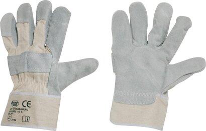 Handschuh Kernspaltleder weiße Stulpe