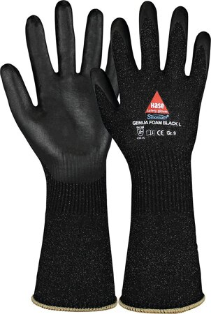 Schnittschutzhandschuh Genua Foam Black Long Gr9
