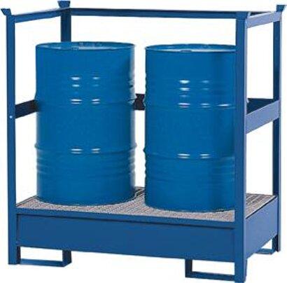 Gefahrstoffstation Stahl, Seiten-/Rückwand offen, RAL 5010