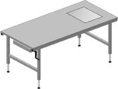 Höheneinstellbarer Pack- und Arbeitstisch stufenlos höhenverstellbar 710–960 mm