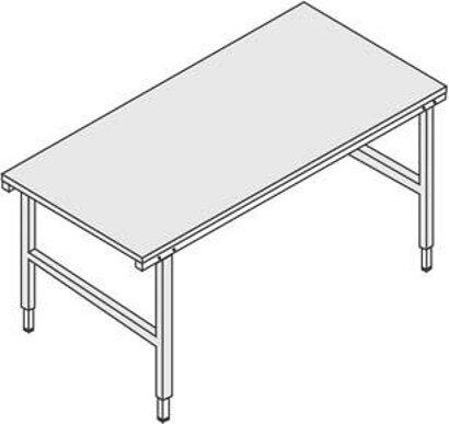 Höheneinstellbarer Pack- und Arbeitstisch stufenlos höhenverstellbar 690–960 mm