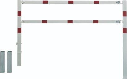 SK-Wegesperre MOOVY schwenkbar, feuerverzinkt und weiß/rot kunststoffbeschichtet