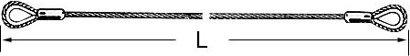 Anschlagseil Klasse D, 1 m Fertiglänge, 2 Kauschen