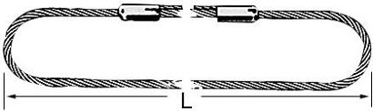 Anschlagseil Klasse D, für 2 m Umfang, endlos verpresst