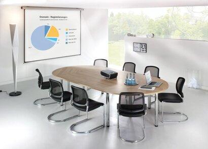 Konferenztisch-System Exclusiv, Ahorn