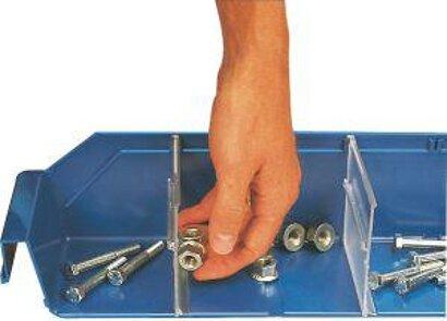 Trennwand quer für Kleinteilekästen aus Polypropylen