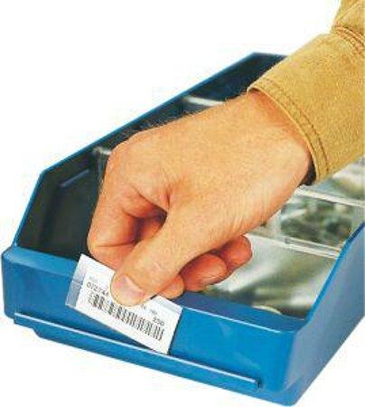 Etiketten und Halter für Kleinteilkästen