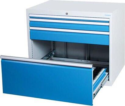 CNC-Schubladenschrank inklusive Rahmen und Einsätzen