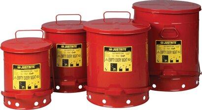 Entsorgungsbehälter, aus Stahlblech