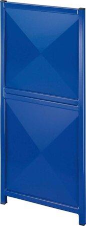Trennwandgitter – Typ Blech/Blech-Kombination, RAL 5010 enzianblau