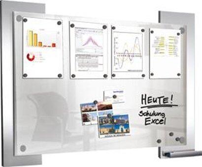 Infoboard Look satinierter Glasplatte