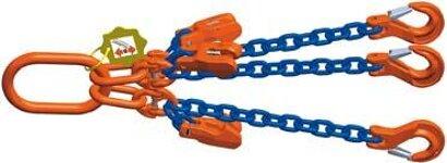 Dreistrang-Kettengehänge mit Sondergüte-Kette