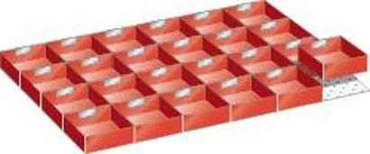 Einstazkästen 54x36, 24 Stück Schubladen-Einteilungsmaterial