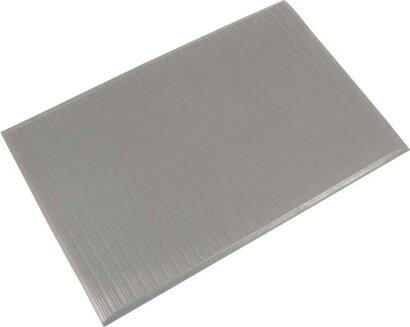 Arbeitsplatzbodenbelag Orthomat® Ribbed, grau