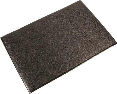 Arbeitsplatzbodenbelag Orthomat® Ribbed, schwarz