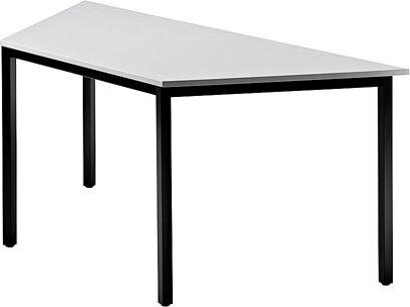 Konferenz- und Mehrzwecktische Modell DQ, Platte grau/Füße schwarz