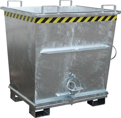 Klappbodenbehälter konischer Behälter, verzinkt