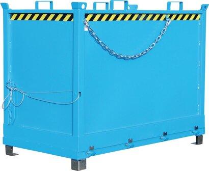 Klappbodenbehälter kranbar, RAL 5012