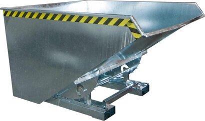 Kippbehälter mit Abrollsystem, Typ EXPO®, verzinkt