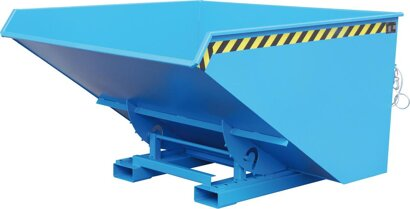 Kippbehälter mit Abrollsystem, Typ EXPO®, RAL 5012