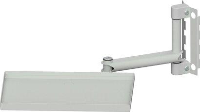 Gelenkarm mit Ablagetablar für System-Aufbau für Werkbänke