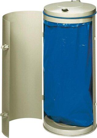 Abfallsammler in RAL 7032 grau für 60/70-Liter-Säcke