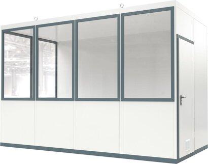 Mobile Raumsysteme für die Innenaufstellung mit Fußboden