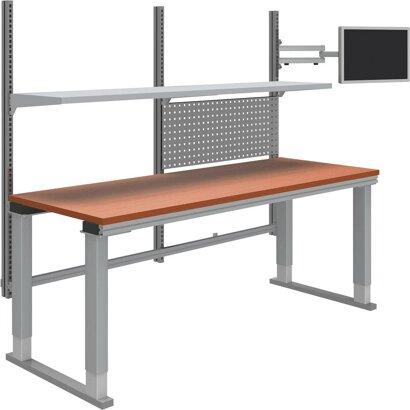 Systemtisch Multi4easy, höhenverstellbar mit Tischplatte Melamin