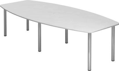 Konferenztisch, mit 6 Chromfüßen