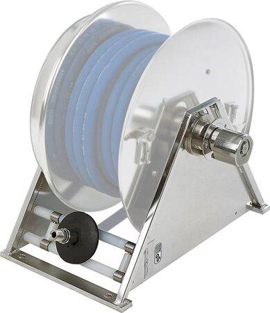 Schwenkbare Wandplatte für Edelstahl-Schlauchaufroller Model VA 5000