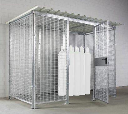 Gasflaschen-Lagerbox mit Flügeltür, 1000 mm breit