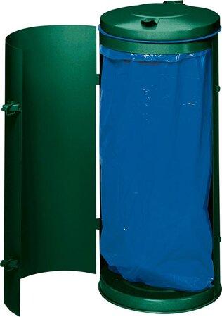 Abfallsammler RAL 6005 moosgrün für 120-Liter-Säcke