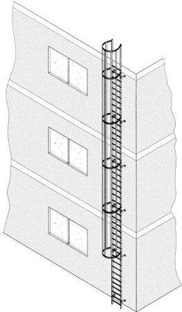 Einzügige Steigleiter, Aluminium, eloxiert