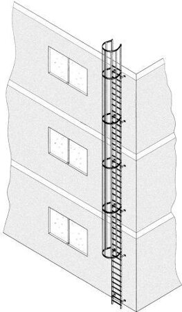 Einzügige Steigleiter, Aluminium, natur