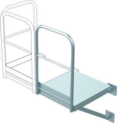 Erweiterungs-Podest für Steigleiter, Stahl verzinkt
