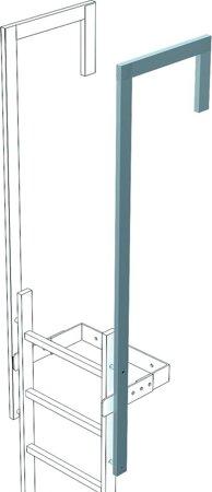 Ausstiegsholm abgewinkelt für Steigleitern