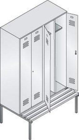 Garderobenschrank Serie Classic, paarweise zueinanderschlagende Türen