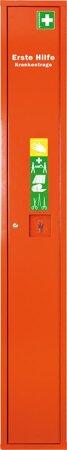 Stehschrank Safe mit ErsteHilfe-Trage gefüllt