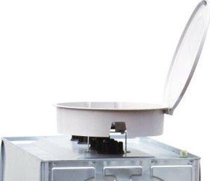 GFK-Einfüllschale mit Deckel für UNI- und MULTI-Tank