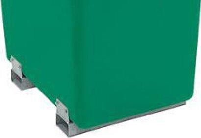 Rechteckbehälter grün, mit Staplertaschen