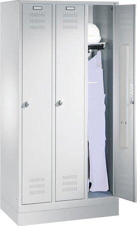 Garderobenschrank, RAL 7035