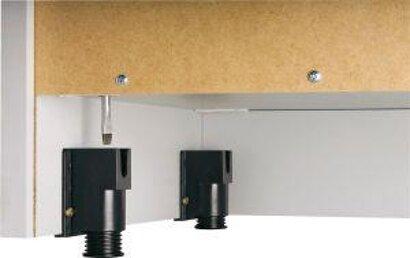 Regal, Kombiregal, Schrank und Falttürenschrank der Schrankwandserie 6, Nussbaum