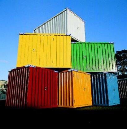 Außenlackierung für Container Kombination SSC mit Boden