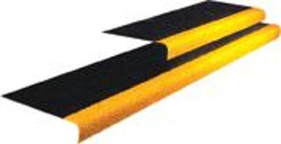 Arbeitsplatzbodenbelag COBAgrip Treppenprofil, schwarz-gelb