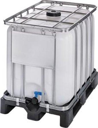 Palettencontainer IBC auf Kunststoffpalette