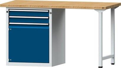 Kombiwerkbank Serie V mit Schubladenunterschrank steh., mit 2 Schubladen 2x90 mm