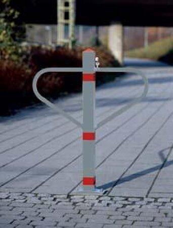 Durchgangssperre, Oberfläche Stahl natur/rot
